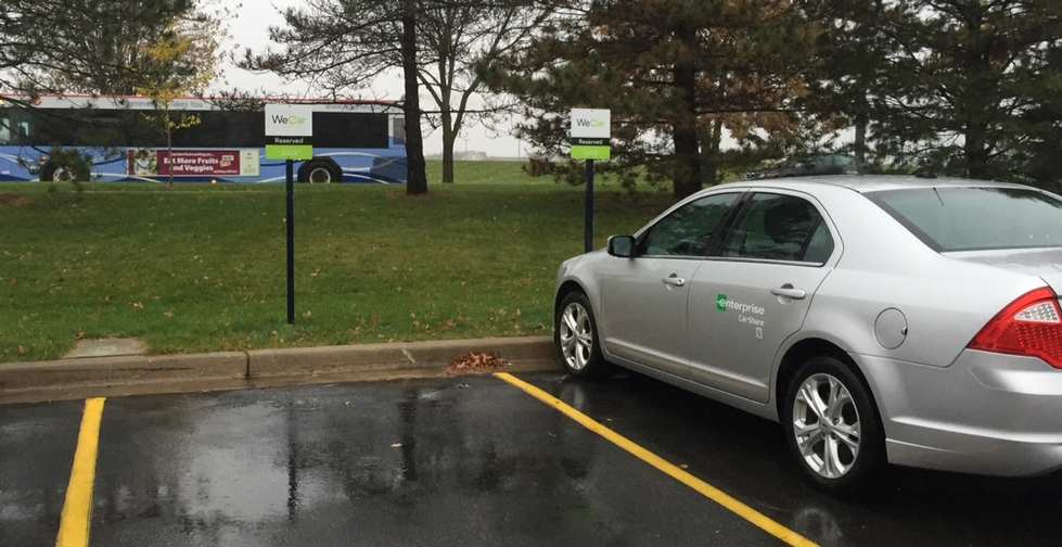 Enterprise CarShare at GVSU KC Lot